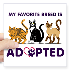 My Favorite Breed is Adopted sticker