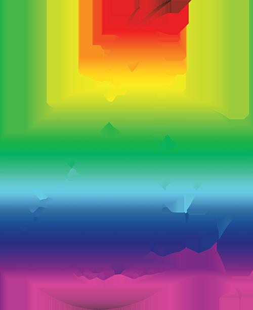 Dragon Silhouette - Rainbow