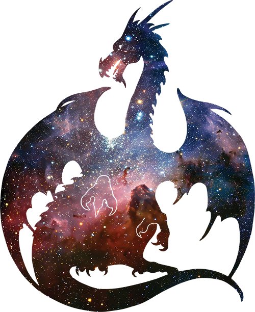 Deep Space Dragon Silhouette