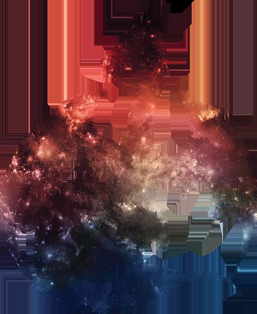 Galaxy Dragon Silhouette