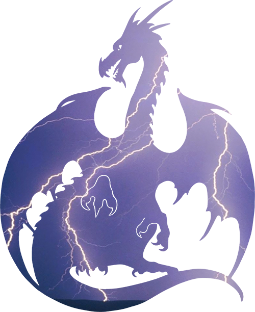 Storm Dragon Silhouette