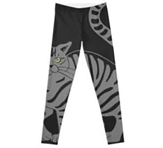 Gray Tabby Cat - tiger stripe Leggings