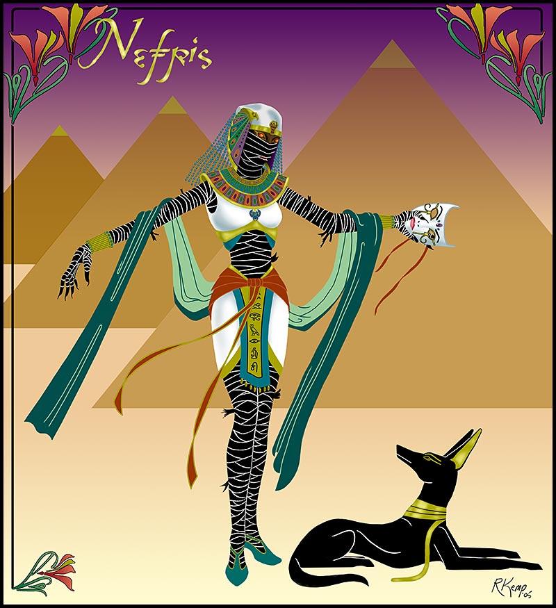 Nefris - Egyptian mummy queen