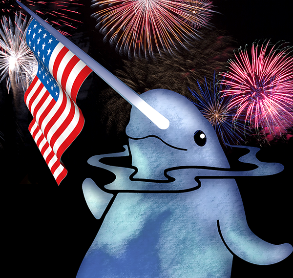 July 4th narwhal