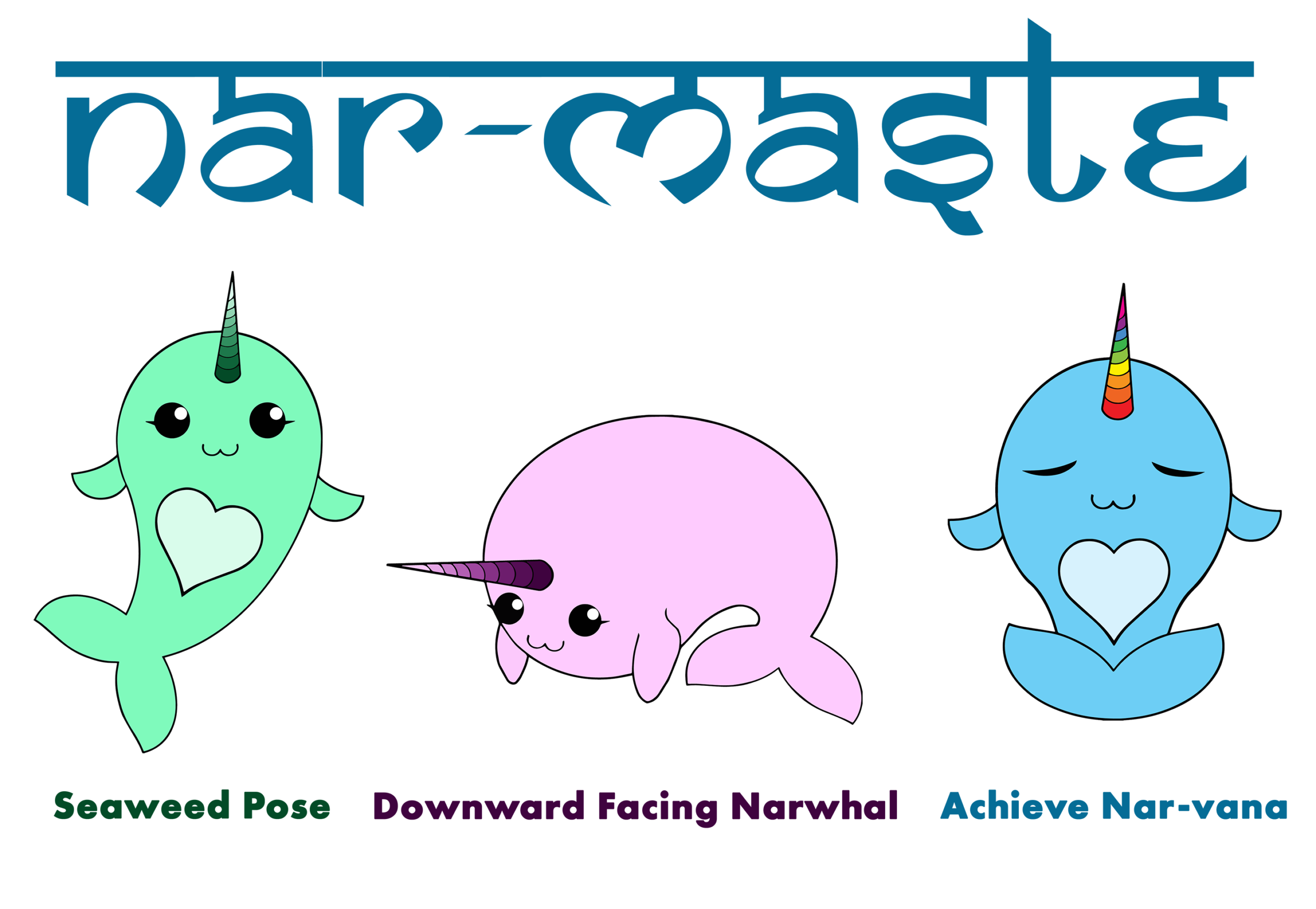 Narwhals Doing Yoga - old version